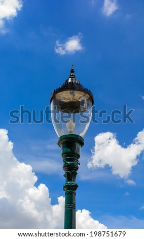 An old street lamppost  - stock photo