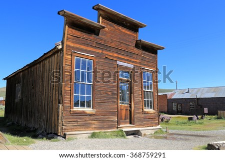 An old structure at Bodie Ghost Town in California. - stock photo