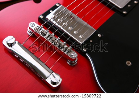 An old style electro acoustic guitar - stock photo