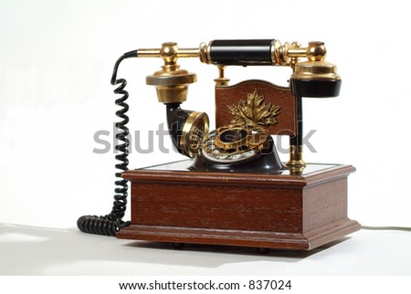An old telephone. - stock photo