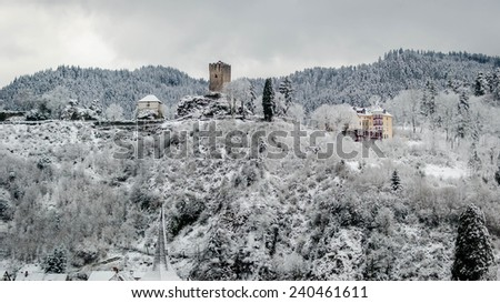 An old tower in the Black Forest, Germany - stock photo