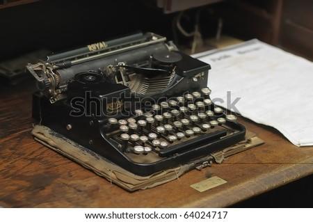 An old typewriter - stock photo