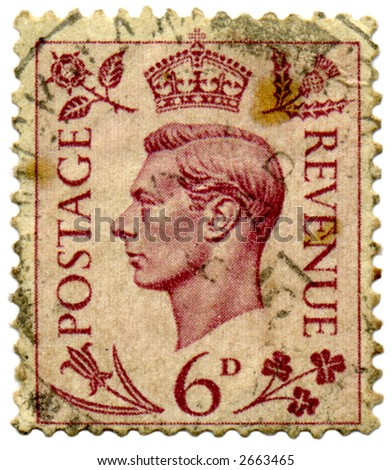 An old used King George VI stamp.