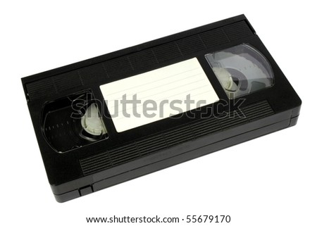 an old vhs video the upper part of a cassette - stock photo