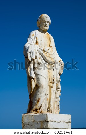 An old weathered statue of St Joseph - stock photo