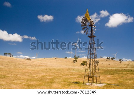 An old windmill in the country.