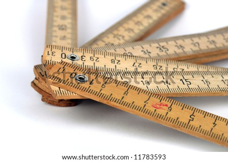 An old wood meter - stock photo
