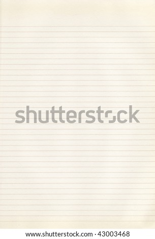 An old, yellowed piece of paper with brown lines - stock photo