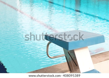 an olympic size swimming pool - stock photo