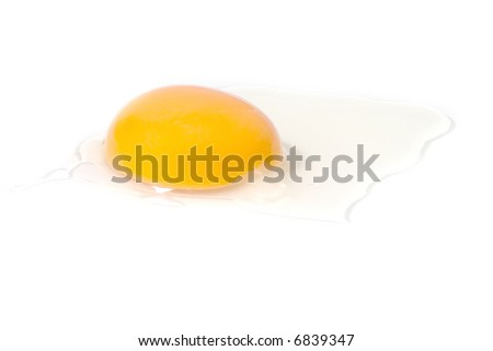 an omelet, isolated on white