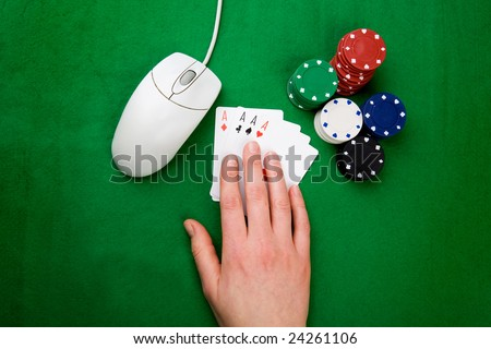 An onling gaming concept - stock photo