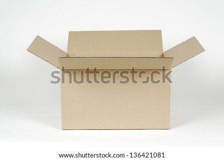 An open cardboard box - stock photo