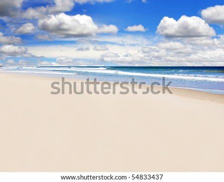 an Open empty tropical island beach - stock photo