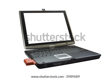 an opened laptop with wireless card