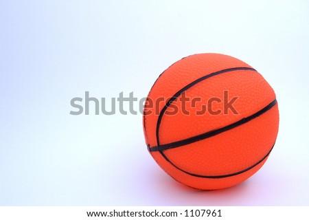 An orange basketball - stock photo