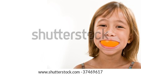 An Orange Smile - stock photo
