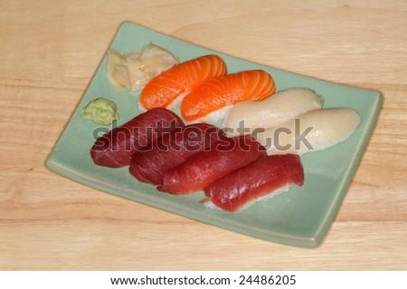 An order of nigiri sushi - stock photo