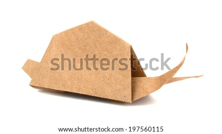 An Origami of paper snail - stock photo