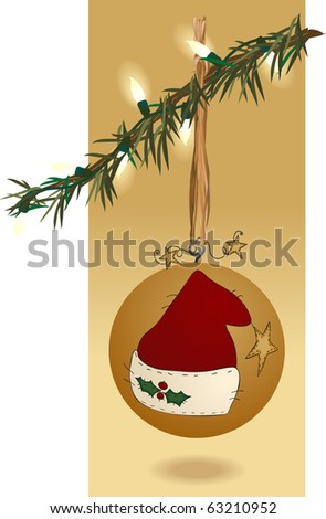 an ornament with homespun primitive appeal - stock photo