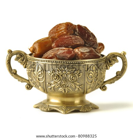 An ornamental of ripped dates - stock photo