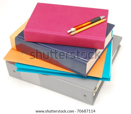 An review on exam day - stock photo