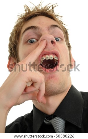 An undependable screw off looser businessman employee - stock photo