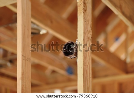 unfinished electrical wiring box electrical component stock photo rh shutterstock com new home construction cable wiring new construction home network wiring