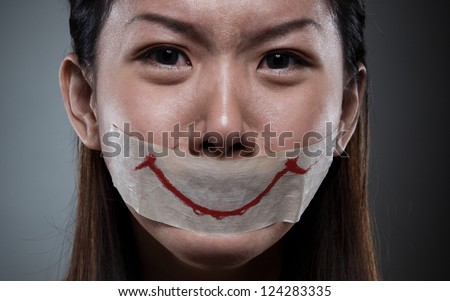 an unhappy women - stock photo