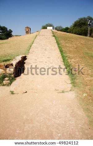 An uphill path - stock photo