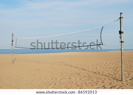An volleyball playground background - stock photo