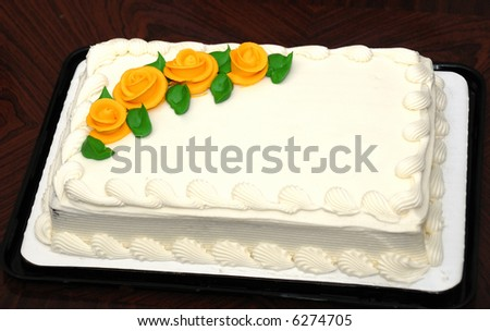 An white creamy cake for all occasions - stock photo