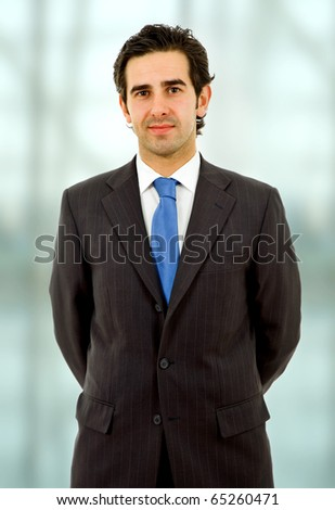 an young happy business man close up portrait - stock photo