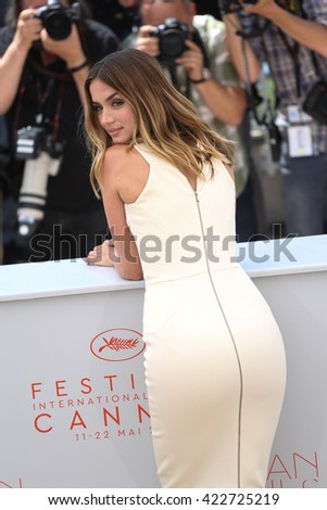 Ana de Armas at the photocall for Hands Of Stone at the 69th Festival de Cannes. May 16, 2016  Cannes, France