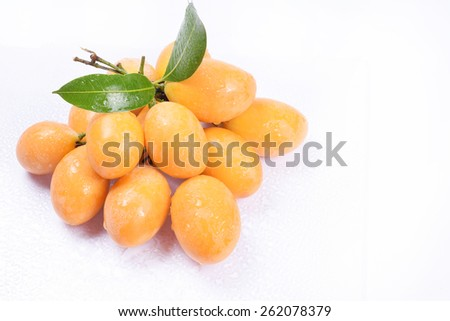 Anacardiaceae of thailand fruit, Isolation fruit - stock photo