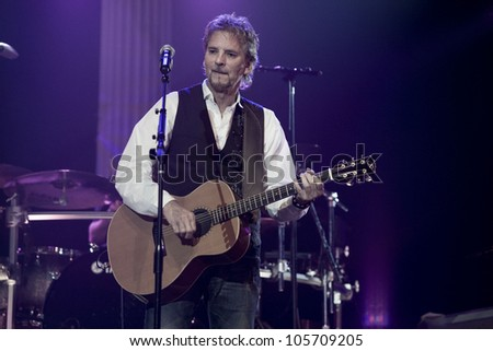 ANAHEIM, CA - JUNE 20: Kenny Loggins accomplishes a very soulful performance at The Grove on June 20, 2012 in Anaheim, California. - stock photo
