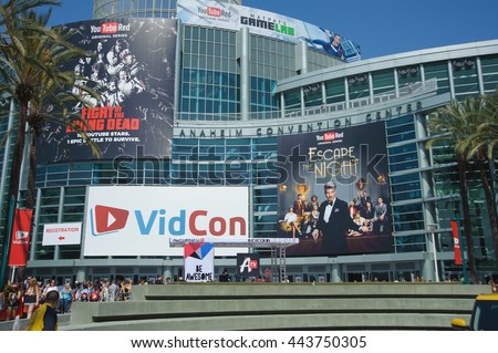 Anaheim, CA - June 23: The 7th annual VidCon conference for YouTube creators, influencers, industry experts and fans at the Anaheim Convention Center in Anaheim, California on June 23, 2016
