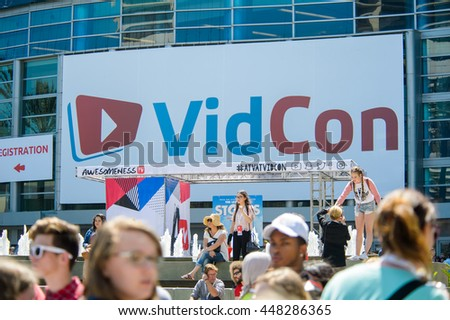 Anaheim, CA - June 24: The 7th annual VidCon conference for YouTube creators, influencers, industry experts and fans at the Anaheim Convention Center in Anaheim, California on June 23, 2016