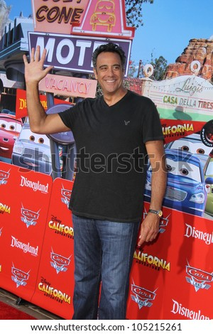 "ANAHEIM - JUN 13:  Brad Garrett arrives at the ""Cars Land"" Grand Opening  at California Adventure on June 13, 2012 in Anaheim, CA"