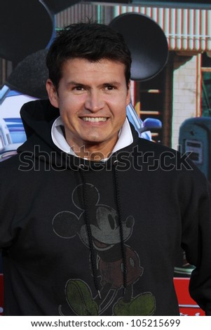 "ANAHEIM - JUN 13:  Joel Lizarraga arrives at the ""Cars Land"" Grand Opening  at California Adventure on June 13, 2012 in Anaheim, CA"
