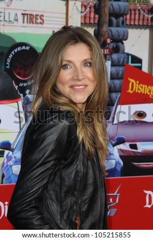 """ANAHEIM - JUN 13:  Sarah Chalke arrives at the """"Cars Land"""" Grand Opening  at California Adventure on June 13, 2012 in Anaheim, CA - stock photo"""