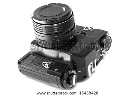 Analog camera isolated on white background