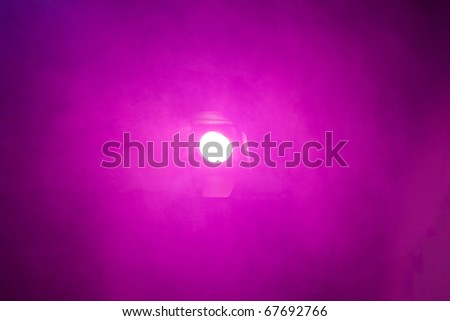 Analog  pink background  colors with smoke and light source - stock photo