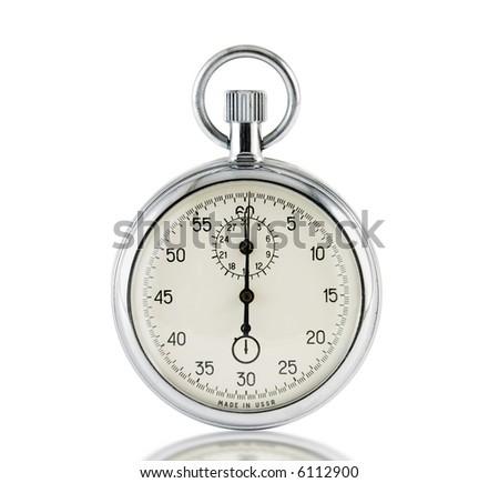 Analog stop watch - stock photo
