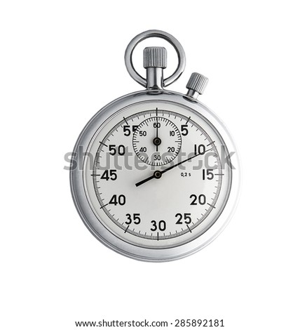Analog stopwatch isolated on white background