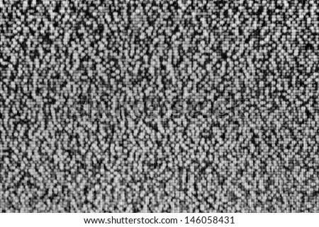 Analog TV CRT kinescope noise. Texture - black & white TV screen - no signal.  - stock photo