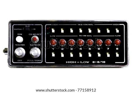 Analog vintage sound/radio unit - stock photo