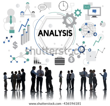Analysis Analyze Examination Data Information Concept - stock photo