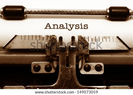 Analysis concept - stock photo
