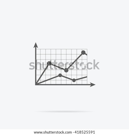 Analysis concept in flat style. Price movement. Stock exchange rates on monitors. Profit graph for diagram. Electronic stock numbers. Profit gain. Business stock exchange. Live online screen - stock photo