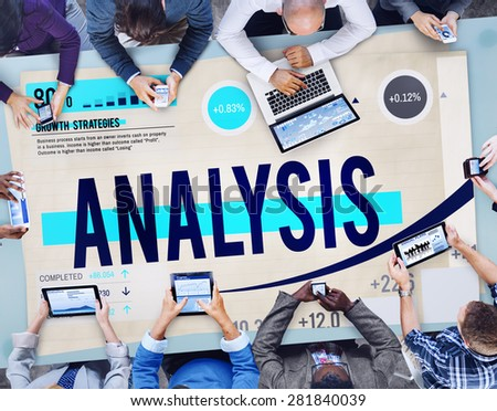 Analysis Data Graph Critical Thinking Information Concept  - stock photo